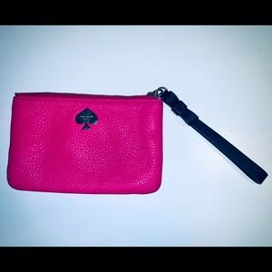 Kate Spade Small Pouch Wristlet - Hot Pink/Magenta